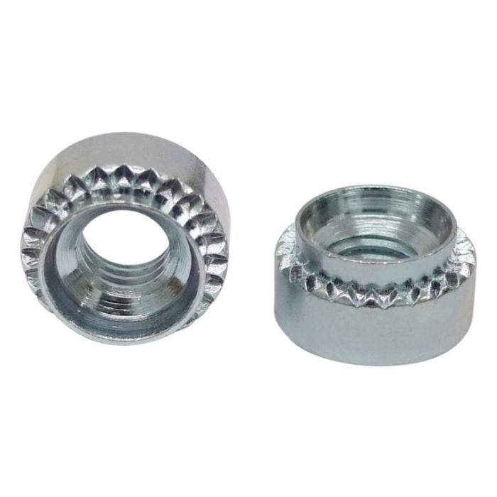 M3 x 10G - Hank Rivet Bush Round Pattern - BZP - Pack of 25