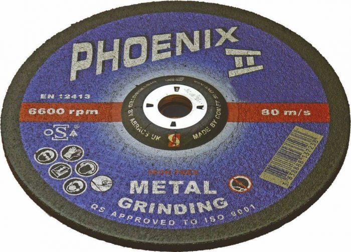100mm x 6.5mm x 16mm - Steel Grinding Wheels Depressed Centre
