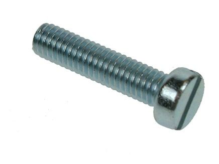 M2 x 25mm - Machine Screw Cheese Head Slotted DIN 84 - BZP - Pack of 100
