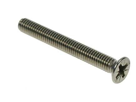M2 x 6mm - Machine Screw Countersunk Pozidrive DIN 965 - A2 Stainless Steel - Pack of 100