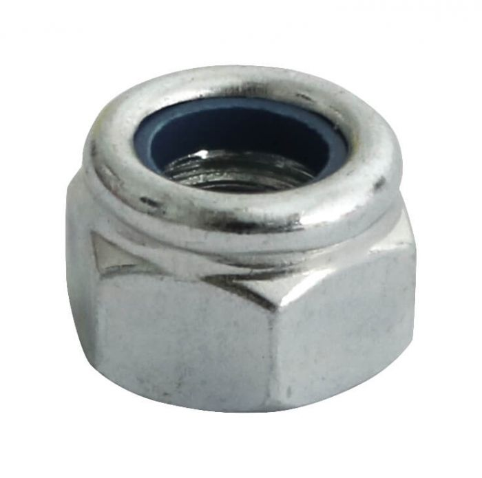 0BA - Nyloc Nut Type P Grade O BS 57 - BZP - Pack of 25
