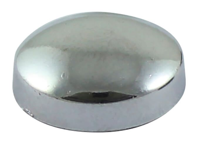 Chrome Screw Cover Cap with Plastic Dome for 6/8G - Pack of 25