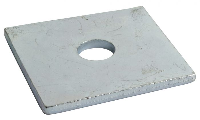 8mm Round Hole 40mm x 40mm x 5mm - Square Plate Washer BS 3410 - BZP - Pack of 25
