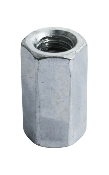 M6 x 18mm (L) - Stud and Connector Nut - BZP - Pack of 100