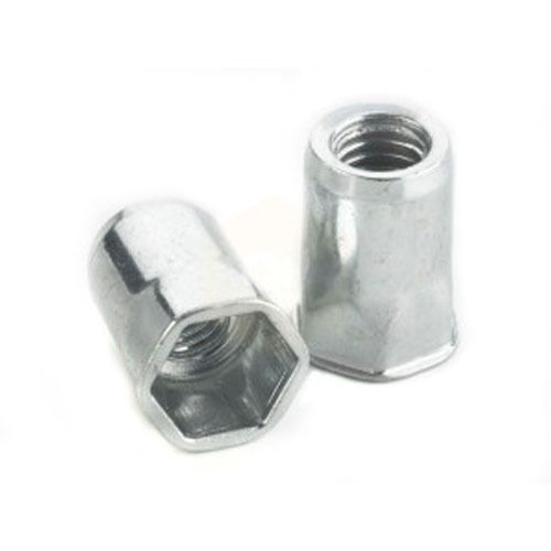 M4 - Blind Rivet Nut Half Hexagon Thin Sheet - BZP - Pack of 25