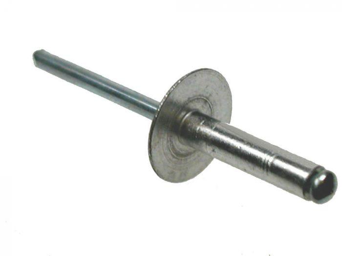 4.0mm x 8mm x 12D - Blind Rivet Large Flange - Aluminium - Pack of 100