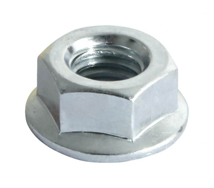 M6 - Flange Nut Hexagon DIN 6923 Serrated Grade 8 - BZP - Pack of 200
