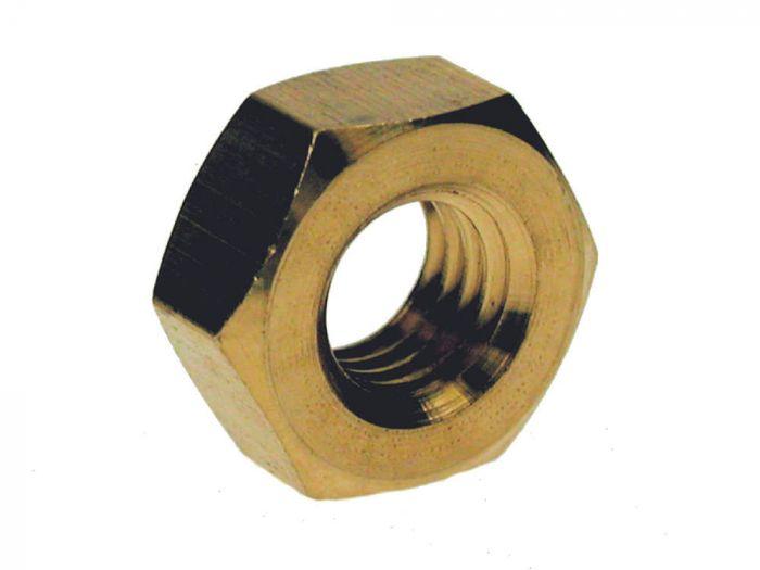 M2 - Full Nut Hexagon DIN 934 - Brass - Pack of 50