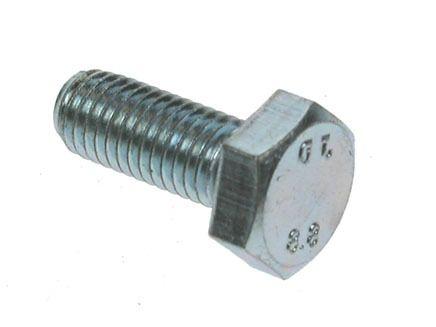 M5 x 14mm - Hexagon Set Screw DIN 933 Grade 8.8 - BZP - Pack of 100
