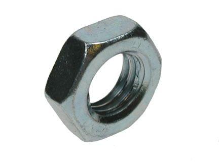 2BA - Lock Nut Hexagon Grade P BS 57 - YBZP - Pack of 50