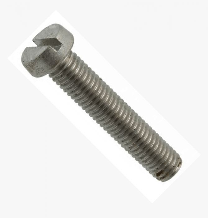 M2.5 x 10mm - Machine Screw Cheese Head Slotted DIN 84 - Self Colour - Pack of 25