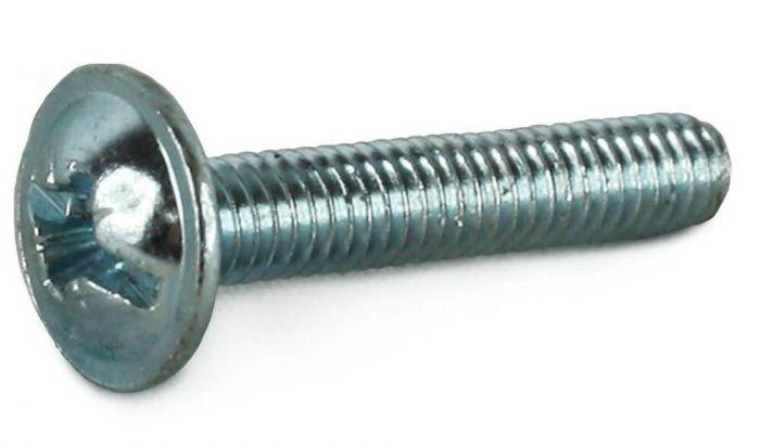 M5 x 10mm - Machine Screw Pozidrive Flange - BZP - Pack of 25
