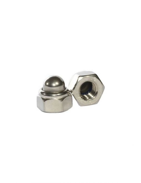 M6 - Nyloc Nut Dome DIN 986 - A2 Stainless Steel - Pack of 25