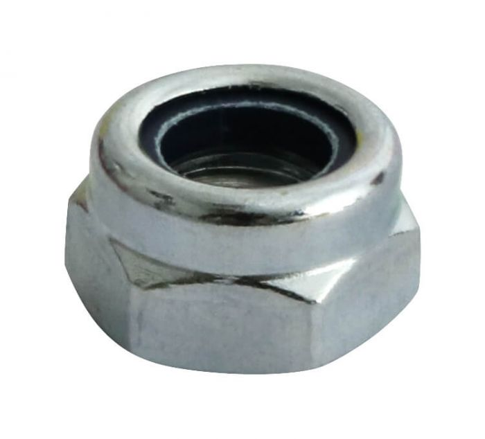 M6 x 0.75P - Nyloc Nut Type T - BZP - Pack of 25