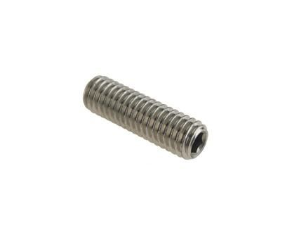 M4 x 8mm - Socket Set Screw Flat Point DIN 913 - A2 Stainless Steel - Pack of 25