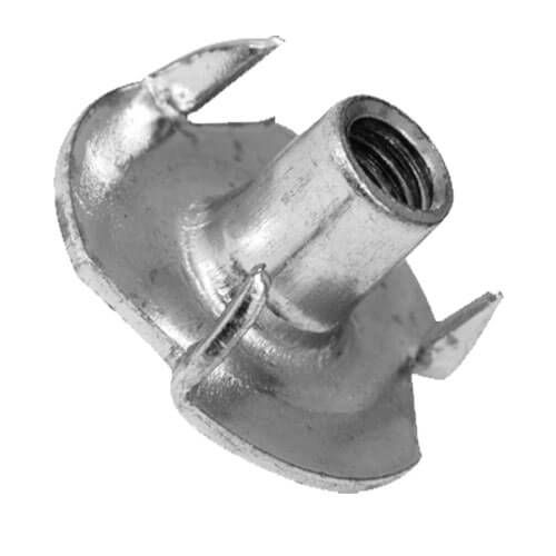M10 x 13mm Barrel - 4-Prong Tee Nut - BZP - Pack of 25