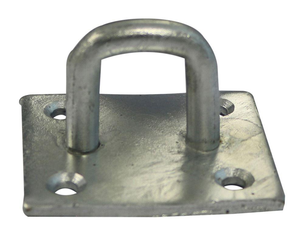 50mm x 50mm - Chain Staple On Plate - Galvanised
