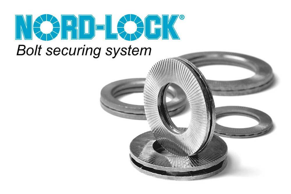 M12 - Nordlock Washer REF NL 12SP Glued Pairs - Zinc Flake - Pack of 25