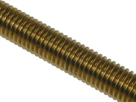 M4 x 1mtr - Studding - Brass
