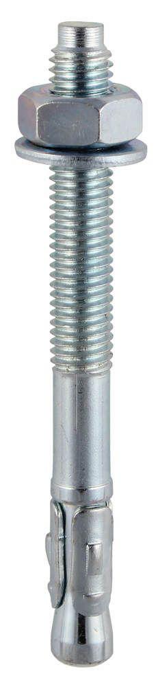8mm x 50mm - Throughbolt Masonry Anchor - BZP - Pack of 25