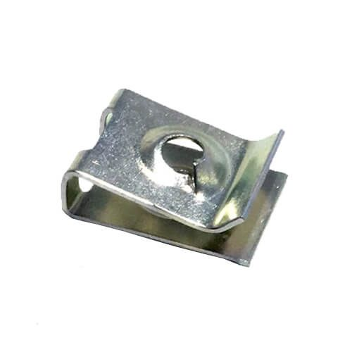 24.6mm (L) x 11.1mm (W) - Spire Clip - For Screw Size 4.2mm/ No8 and Material Thickness 0.7mm to 1.6mm - Pack of 25
