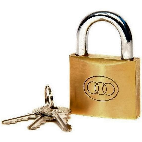 25mm - Brass Padlock Tri-Circle