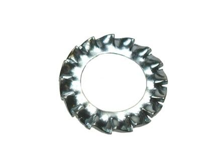 M2.5 - Serrated Shakeproof Washer External Type A DIN 6798 - BZP - Pack of 1000