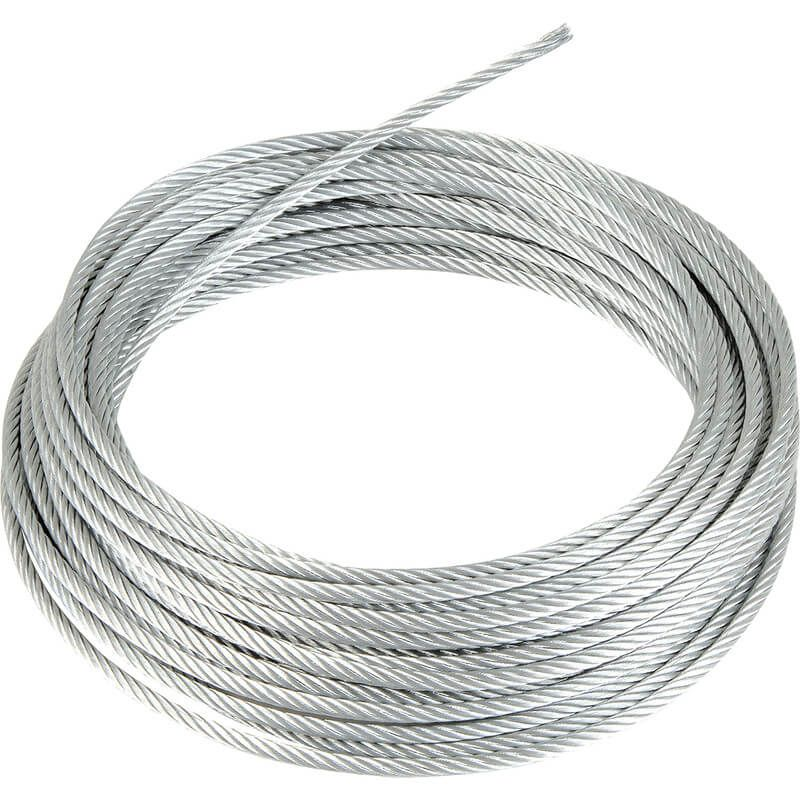 6mm x 1mtr - Wire Rope - Galvanised