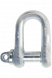 0.50 Tonnes S.W.L - Shackle RR-C-271B - Galvanised - Pack of 5